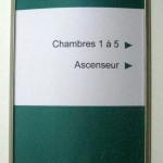 Panneau directionnel galbé inox gestion papier de l'information