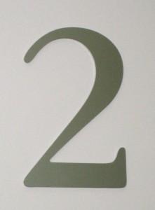 Numérotation d'étage ou de bâtiment en relief
