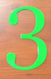 Numérotation d'étage en plexi découpe