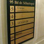 signalétique hall immeuble bureaux