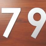 Numérotation relief
