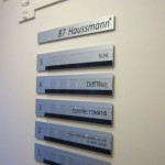 Sign-Capitale - Plaque immeuble aluminium