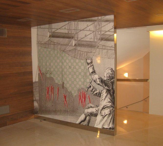 d cor vinyle mural sign capitale. Black Bedroom Furniture Sets. Home Design Ideas