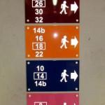 Sign-capitale Signalétique directionnelle piéton parking/sous-sol