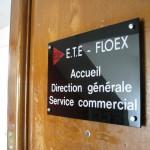 Sign-capitale Plaque professionnelle en plexiglas