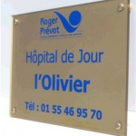 Sign-Capitale Signalétique interne - plaque plexiglas hôpital