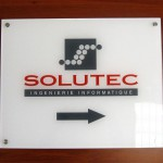 Sign-capitale Plaque professionnelle en plexi