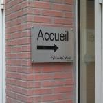 """Sign-Capitale Panneau directionnel """"accueil"""" en alu"""