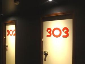 Numéro de chambre hotel