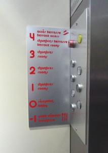 plaque repérage ascenseur