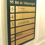 Panneau prestige pour hall immeuble