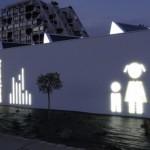 Sign-Capitale - Pictogramme plexiglass-lumineux