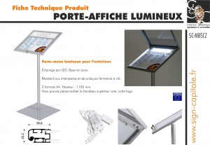fiche technique outdoor led menu stand