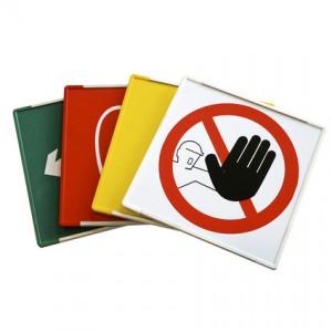 Plaque de sécurité cadre couleur