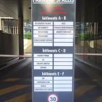 Panneau extérieur pour parking