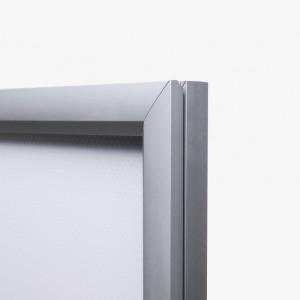 Cadre lumineux avec contour en aluminium