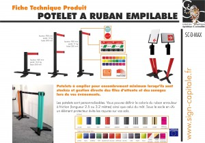 fiche technique potelet à ruban empilable