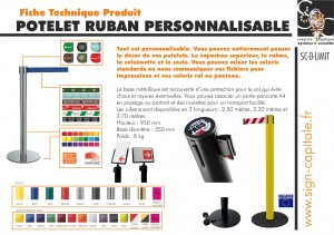 Sign-Capitale - Potelet ruban personnalisable