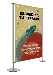 Sign-capitale - Signalétique-Limiteur d'espace Banner Maxi personnalisable