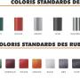 Fiche coloris ruban
