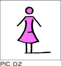 Sign-Capitale - Plaque toilette dame PICTOCAP