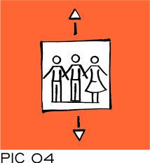 Sign-Capitale Plaque pour ascenseur PICTOCAP
