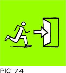 Sign-Capitale - Plaque de porte sortie de secours PICTOCAP