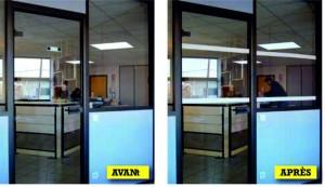 Sign-Capitale - Signalétique sécurité - bandes de visibilité sur vitres