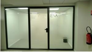 Sign-Capitale - Signalétique interne film opaque sur vitre