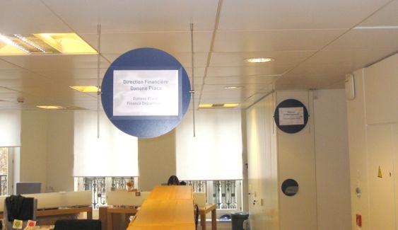 Panneau suspendu sur mesure - Gestion papier de l'information