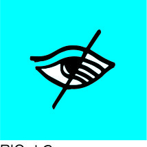 Pictogramme plaque handicap visuel PICTOCAP