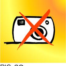 Panneau d'interdiction photo
