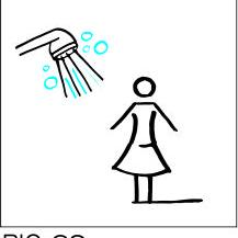 Sign-Capitale -Plaque porte douche dame PICTOCAP