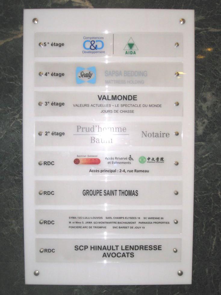 Panneau de direction pour la Cramif idf