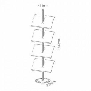 dimensions porte brochure colonne
