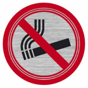 Sign-Capitale Signe Interdiction de fumer effet inox brossé