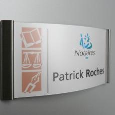 Sign-Capitale - Signalétique interne Plaque de porte double pli