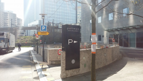 totem extérieur pour directionnel parking