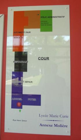 plan d'une école