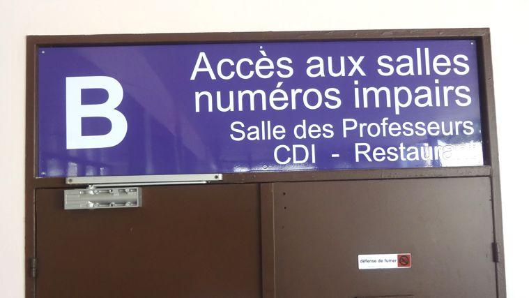 panneau d'identification de salle