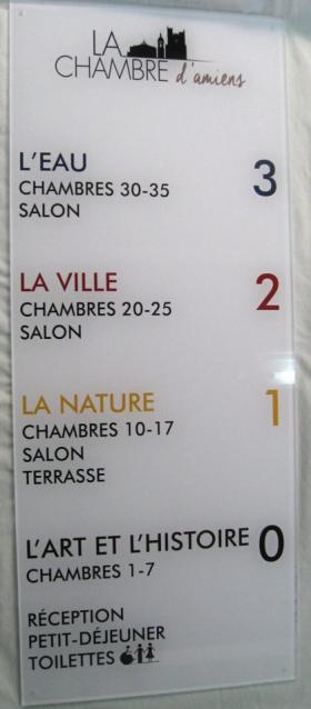 Panneau d'orientation pour hotel erp