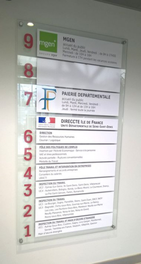 panneau pour accueil immeuble