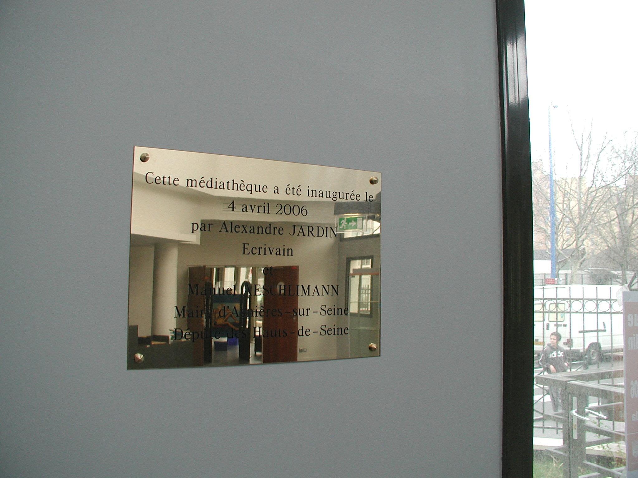 signalétique médiathèque pour mairie