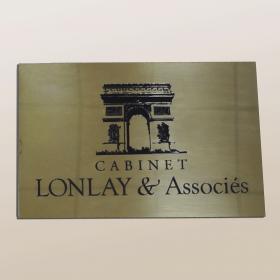 cabinet lonlay et associés plaque en laiton
