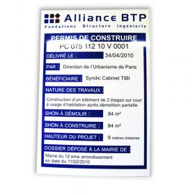 alliance btp panneau permis de construire