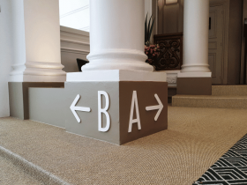 Signalétique entreprise chez BNP Paribas real estate