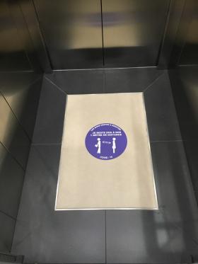 signalisation ascenseur anti covid